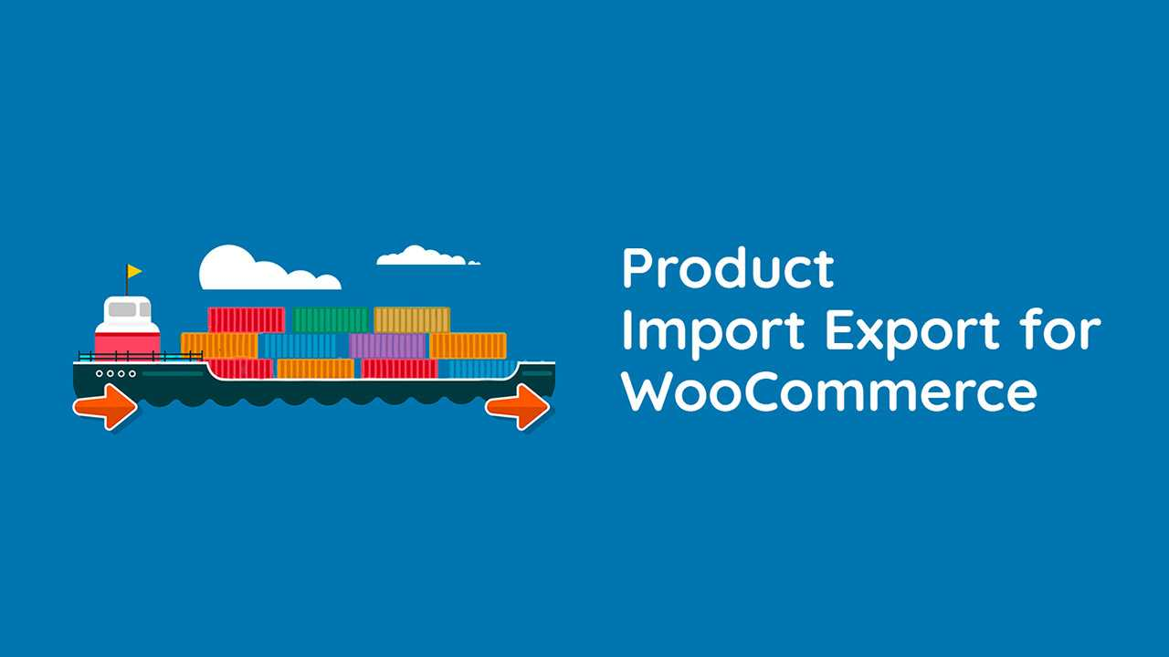 woocommerce export import products