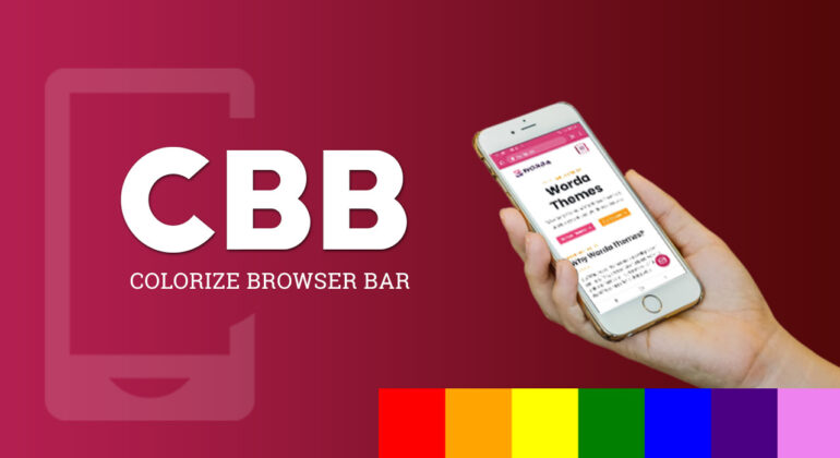 color browser top address bar mobile android iphone