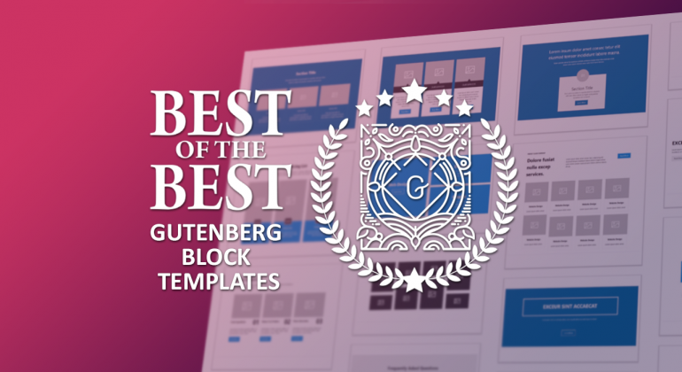Best Gutenberg Block Templates