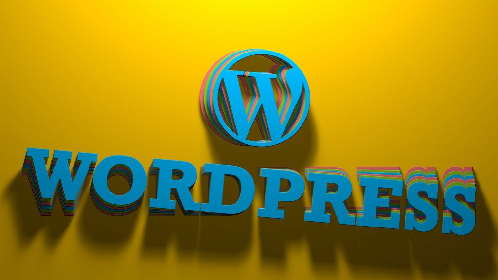 WordPress 3D with text Wallpaper by Salah