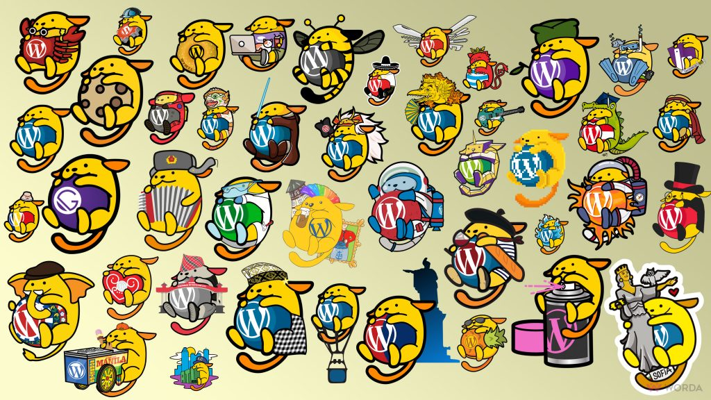 WordPress Wapuu Wallpaper - WordPress Wapuus Wallpaper 4k by Worda