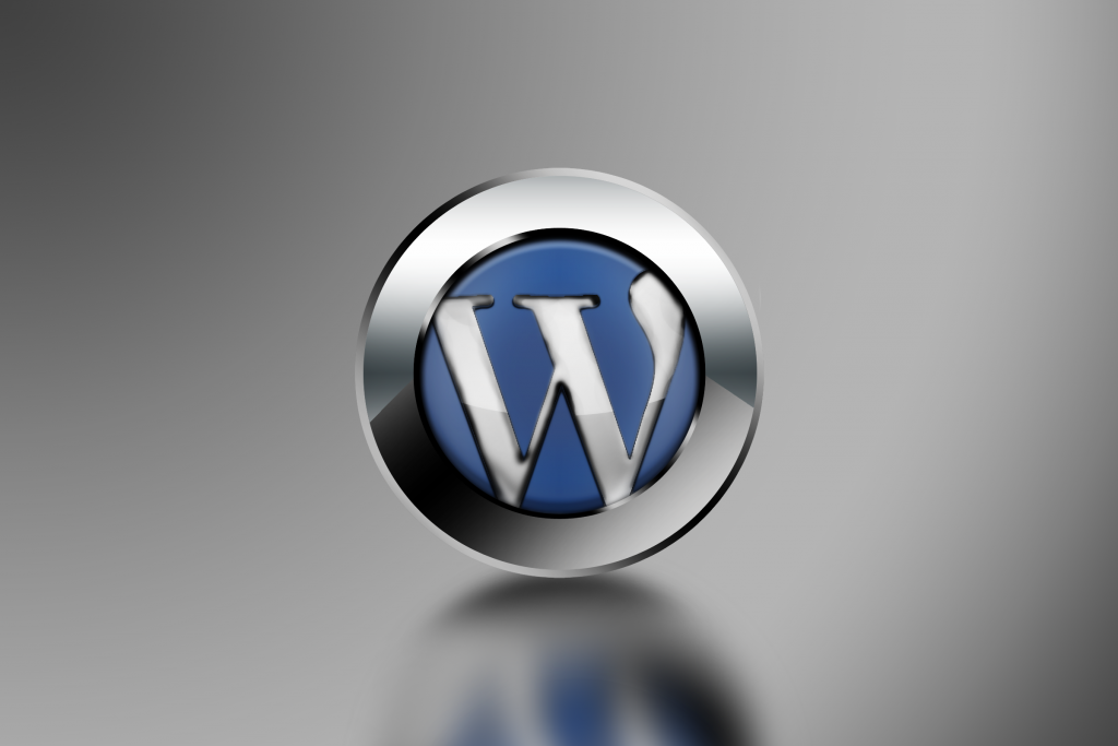 WordPress 3D Logo Wallpaper