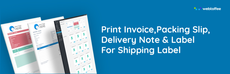 print invoices packing slip labels for woocommerce