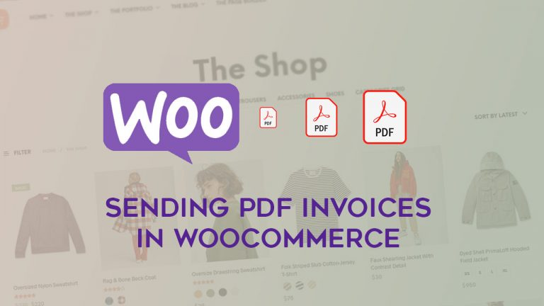 WooCommerce - How to send PDF invoice